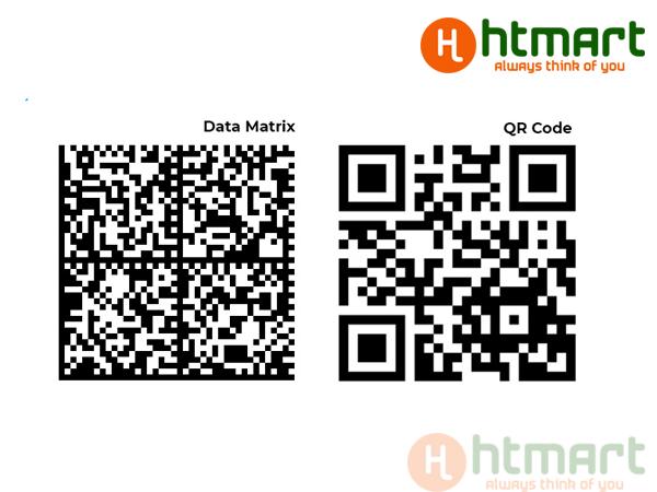 Sự khác nhau giữa QR code và datamatrix