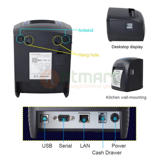 Cấu tạo thiết kế máy in xprinter A260M A300M